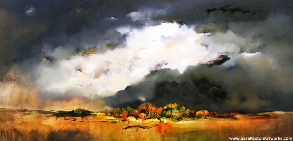 Mounting Storm- Oil Painting-180x85cm