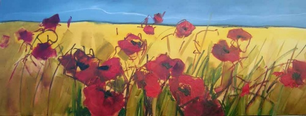 Oil Paint Step 4_Parading Poppies_Sara Paxton Artworks