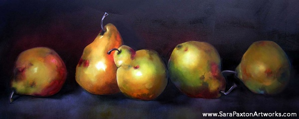 Pear Performance - 160x60cm - Seaview gallery Queenscliff exhibition