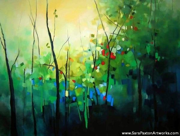 Trees in Spring - 120x90cm - Seaview gallery Queenscliff exhibition