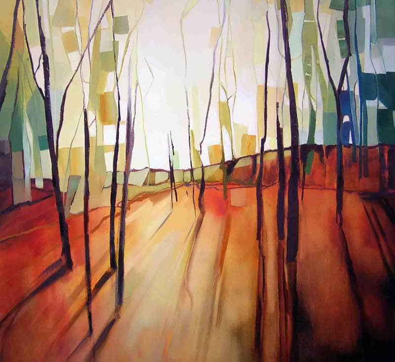 Sara Paxton Artwoks-Long Shadows-106x106cm