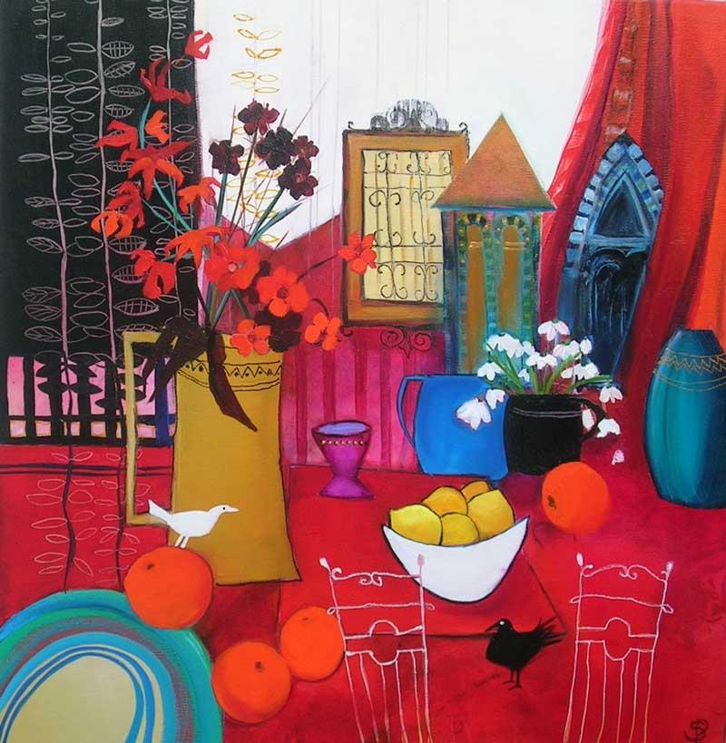 Sara Paxton Artwoks-Oranges & Lemons-60x60cm
