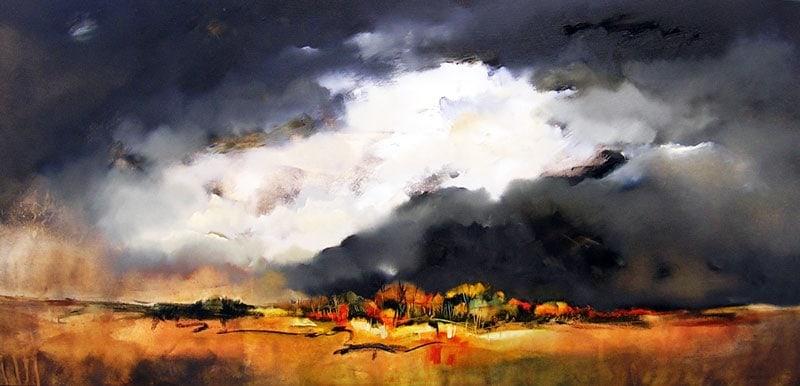 Sara Paxton Artworks-Mounting Storm-180x85cm