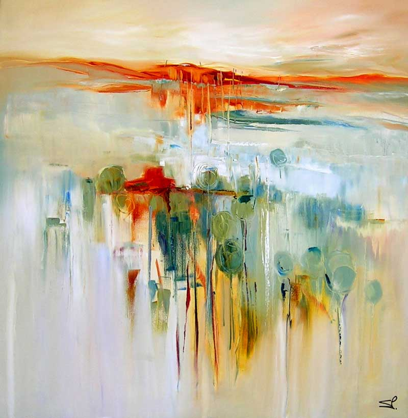 Sara Paxton Artworks-Reflections-87x87cm