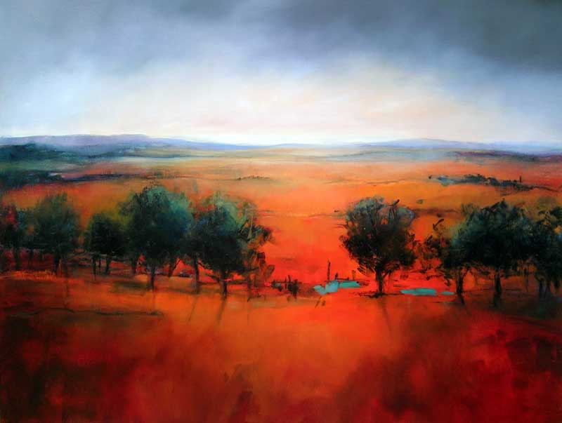 Sara Paxton Artworks-Twilight Landscape-120x90cm