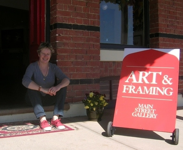 Sara visits Main Street Gallery, Rutherglen