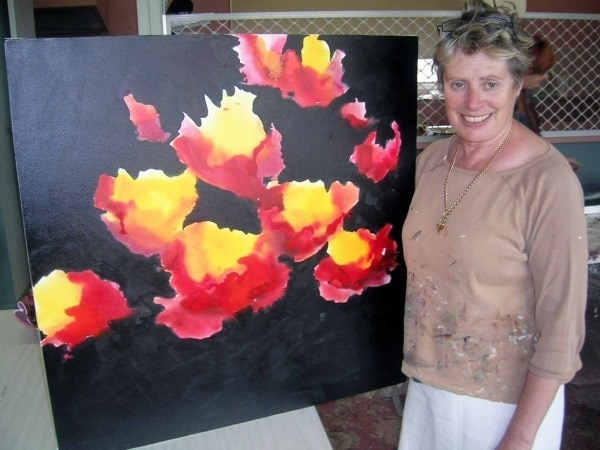Painting Inks on Canvas Workshop