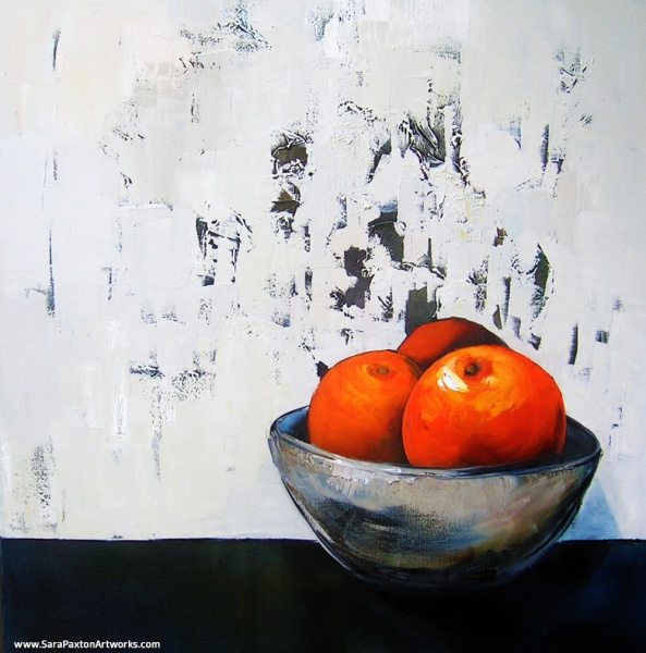 Orange-92x92cm-Sara Paxton Artworks-Oil Painting