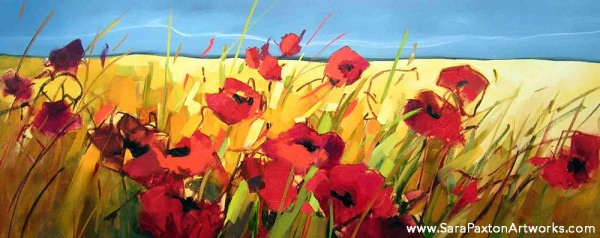 Parading Poppies Time-lapse with Oil Paints