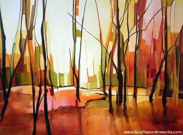Parklands - 120x90cm - Seaview gallery Queenscliff exhibition