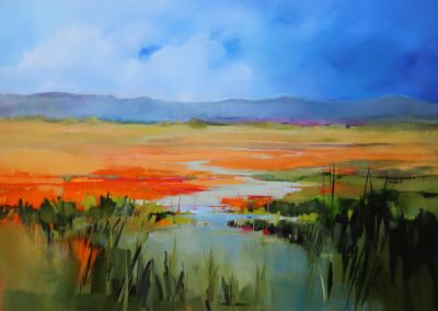 Orange Landscape 150x100cm