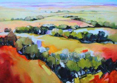 Wooded Landscape 92x92cm