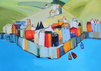 Castle on the Hill 92x92cm