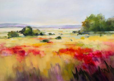 Red Poppy Landscape 150x100cm