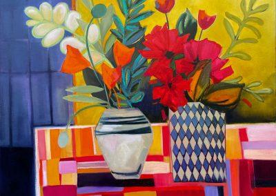 Two Vases 92x92cm
